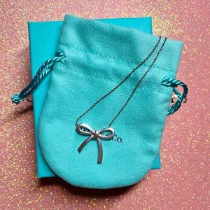Tiffany & Co. Sterling Silver Bow Pendant